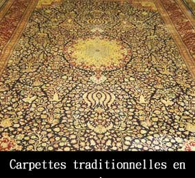 Carpettes traditionnelles en soie